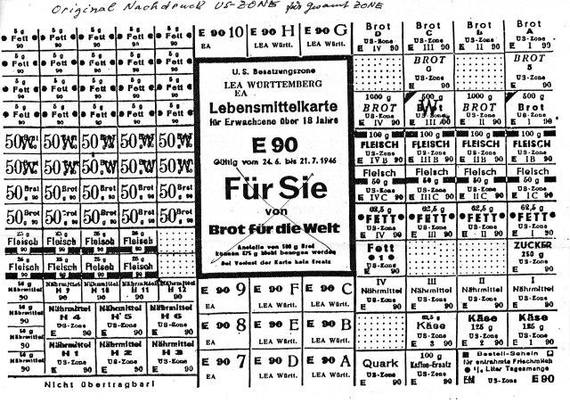 Lebensmittelmarken 1946 (1)